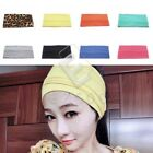 Lady Girls Cotton Yoga Sport Headband Stretch Wide Hairband Turban Armband