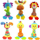 Soft Sound Animal Handbells plush Squeeze Rattle For Newborn Baby Toy Gifts LT