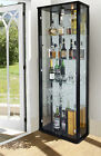 LOCKABLE RETAIL USE DOUBLE GLASS DISPLAY CABINETS VARIOUS COLOURS RETAIL DIPSLAY