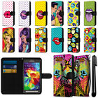 For Samsung Galaxy S5 Active G870A Pop Art Design Canvas Wallet Case Cover + Pen