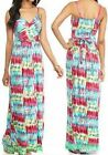 New Directions Pink Combo Drape Crossover Scratch Print Stretch Knit Maxi Dress