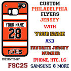 NEW Custom PHILADEPHIA FLYERS Jersey phone Case Cover for HTC ONE m9 LG G4 Moto