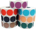Circle Dot Stickers, 1 Inch Round, 500 Labels on a Roll, 39 Color Choices