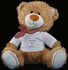 Personalised Teddy Bear 30cm Lovely Birthday Gift Boy or Girl Print Soft TEDDY 1