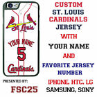 Custom Saint Louis Cardinals Jersey Phone Case w  Your Name & # for iPhone