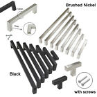 Kitchen Tallboy Handles Stainless Steel Square Knobs Drawer Cupboard Pulls Lot