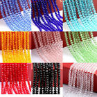 4mm/6mm/8mm/10mm Faceted Rondelle Glass Crystal Beads Pick Colors