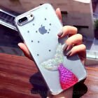 Cute Mermaid Bling Sparkle Glitter Soft Gel Case Cover for iPhone X/8/6S/7 Plus
