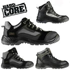 MENS HARD CORE by SCRUFFS ANKLE SAFETY STEEL TOE WORK HIKER TRAINERS BOOTS NEW