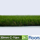 Artificial Grass, Quality Astro Turf, Cheap, Realistic Natural 30mm C-Yarn