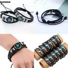 Faux Leather Constellations Zodiac Bracelets Birthday Gift Decorations BD6D