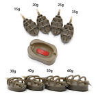 4 INLINE METHOD FEEDERS + RUBBER MOULD 15 60g CARP FISHING TACKLE
