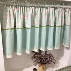 Village green rose grid cotton block Home Kitchen window Cafe Curtain 16040403