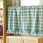 Lovely Green lattice lace cotton block Home Kitchen Sheer Cafe Curtain 17031505