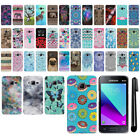 "For Samsung Galaxy J1 Mini Prime J106 4"" PATTERN HARD Back Case Cover + Pen"