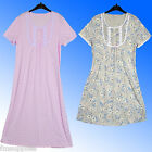 Marks & Spencer Traditional Patterned Nightdress Nightshirt Soft Feel Sizes 8-26