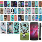For Motorola Moto Z2 2nd Gen 2017 PATTERN HARD Back Case Phone Cover + Pen