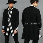 Mens fashion,Avant Garde Ribbed Stripe Button Cable Knit Long Card, GENTLER SHOP