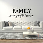 Family A Journey To Forever with Arrow Vinyl Wall Decal - fits living room L225