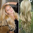 Big Wavy Real Human Hair 3/4 Half Wigs Clip in Half Wigs Hair Piece for Women