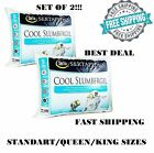 Cool Slumber Gel Bed Pillows King Hypoallergenic Comfort Sleep Hotel Set Of 2 image