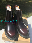 NIB Dr. Martens Women's Flora Ankle Chelsea Boot Cherry Red Arcadia Leather
