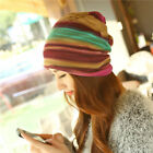 Absolutely Adorable Women's Autumn Baggy Beanie Colorful Slouch Hat Chemo New
