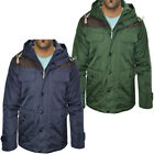 Mens Brave Soul Penrith Shoulder Patch Cargo Mens Military Coat Jacket Size S-XL