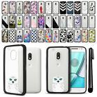 "For Motorola Moto G4 Play 5"" XT1607 Black Hard Clear Case TPU Bumper Cover + Pen"