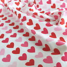 Love Heart 100% Cotton Fabric per half metre / fat quarter by Robert Kaufman