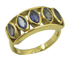 Iolite Gold Plated Ring classy Blue wholesales AU K,M,O,Q