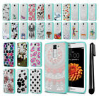 For LG K7 Tribute 5 LS675 MS330 Hybrid Clear TPU bumper Case Phone Cover + Pen