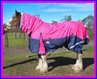 LOVE MY HORSE 1200D 7'0 - 7'3 Clydesdale Combo Waterproof Rainsheet Pink / Navy