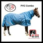 LOVE MY HORSE 5'0 - 6'3 PVC Mesh Turnout Reflective Combo Horse Rug Blue