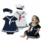 Baby Girl Sailor Marine Halloween Fancy Dress Party Costume Outfit Clothes Set