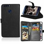 Kolorfish Flip Wallet PU Leather Corporate Case for Huawei Honor 8 Pro -Black