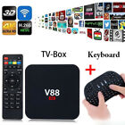 V88 Smart TV BOX RK3229 4K Android 6.0 Quad Core 8GB HD 1080P WIFI With Keyboard