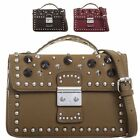 Ladies Faux Leather Studded Briefcase Top Handle Bag Evening Handbag KT2060