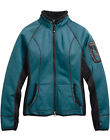 Harley-Davidson Womens Province Fleece Mid-Layer Teal Casual Jacket 97596-17VW