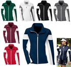 LADIES COLORBLOCK, ZIP UP, DOUBLE KNIT JACKET, ZIPPERED POCKETS, WARM UP, XS-3XL