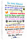 We Do Disney In This House Quote on CANVAS WALL ART Print Multi coloured / white