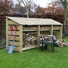 Empingham 4ft Wooden Log Store - Also Available With Doors - UK Hand Made