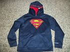 SUPERMAN UNDER ARMOUR New NWT Youth Kids Boys Hoodie Jacket Alter Ego Storm Blue