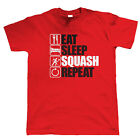 Eat Sleep Squash Repeat, Mens Funny, Sporting T Shirt, Gift Dad