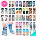 socks low cut unisex 3D socks one size stretchy funky animal