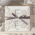 Wedding invitation Cards Kit with Envelopes White Paper Cut Supplies 30PCS-