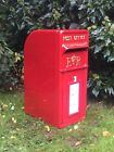 Royal Mail ER Post Box White  Red  Black and Green Option on Stand Similar to GR