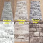 Wallpaper White Silver Dark Grey Shimmer Brick Pattern Mural 6751 6752 6753