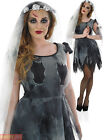 Ladies Corpse Bride Costume Zombie Bride Halloween Fancy Dress Womens Plus Size
