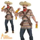 Adult Tequilla Bandito Costume Mexican Fancy Dress Outfit Mens